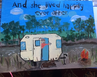 "Painting.  ""And she lived happily ever after"""