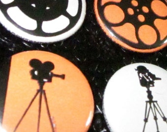 Film Camera and Reel Magnets (Set of 4)