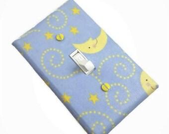 Moon and Stars Nursery Light Switch Cover   Boys Nursery Décor   Girls Nursery Décor   Décor for Baby Nursery   Suiteplat