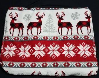 Wintery deer cherry pit bag
