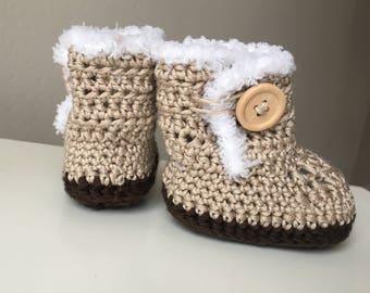 Baby booties, Crochet baby booties, Crochet baby ugg boots, Ugg booties, Baby shower, Baby shower gift, Handmade baby shoes, Photo prop