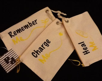 Travel Bag Trio, Yellow print - CUTE COLLECTION