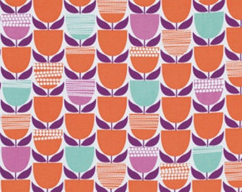 36162- 1/2 yard of   Erin McMorris Moxie  Buttercup in tangerine color