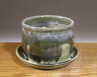 Stoneware Planter , Planter , Small Planter , Handmade , Pottery Planter , by Jon Whitney Pottery