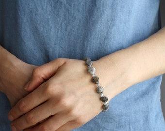 Sesame Quartz and Labradorite Bracelet for Stress Relief NEW