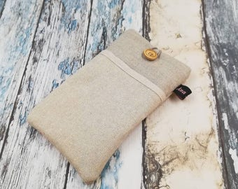 6,7 and 8, fabric phone case, IPhone cover smartphone, wallet phone case iPhone case fabrics linen, linen glasses case