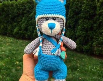 Teddy bear/Crochet teddy/Plush teddy/Teddy gift/Stuffed animals/Amigurumi bear/Amigurumi animals/Stuffed bear/Nursery decor/Teddy Bear Toy