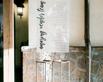 Custom Vendor Sign |  wedding planner | event planner | preferred vendor