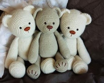 Crochet Amigurumi Teddy Bear PATTERN - Lucas the Teddy - Classical Teddy Bear Crochet PDF Tutorial - Instant download- Printable- In English