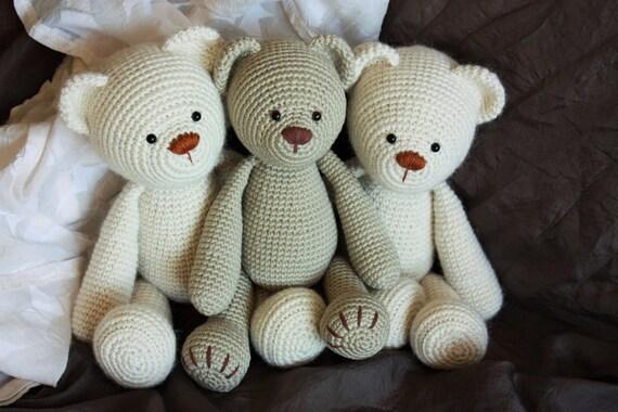 Alpaca Amigurumi Patron Gratis : Crochet amigurumi teddy bear pattern lucas the teddy
