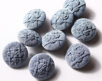 14 buttons 28mm, grey polyester Shank (8150)