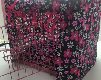 Made to measure dog crate cover / puppy training/ dog cover/ training crate / floral