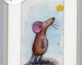 Hand-Painted Greetings Card (original - not a print!) Option for banners