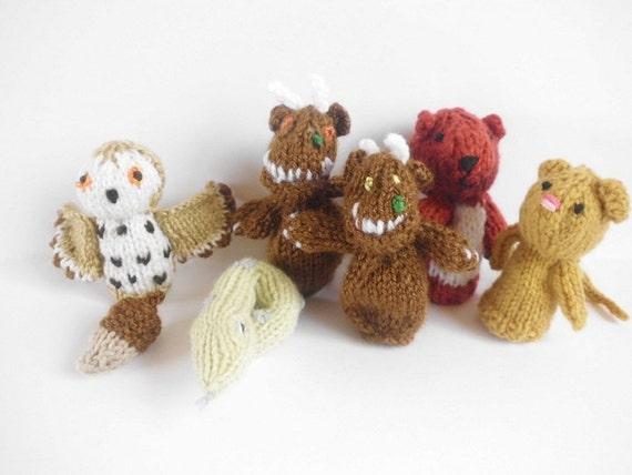 Pdf Gruffalo Finger Puppets Knitting Pattern