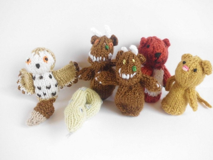 PDF GRUFFALO finger puppets knitting pattern from ...