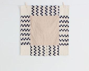 Handmade Baby Girl Quilt - Pink Navy and Cream