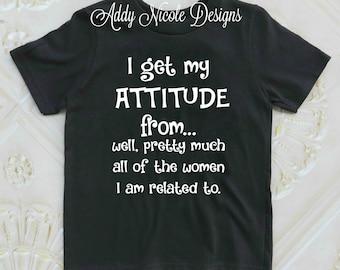 I Get My Attitude Shirt, Toddler Girls Shirt, Toddler Girls Clothes, Toddler Boys Clothes, Baby Girl
