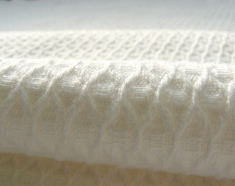White organic linen cotton  fabric--Natural--Linen Bath