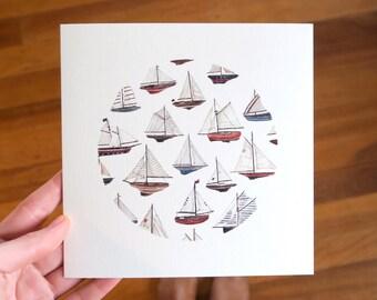 Sailboats- Greeting Card