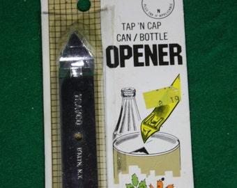 Vintage Tap N Cap Can/Bottle Opener - 1983 - NOS Traco B'klyn NY