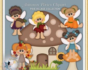 Autumn Pixies Clipart