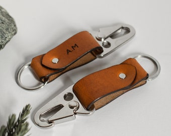 Leather HK Keychain, Leather keyring, Personalized gift, Personalized Keychain, Gift for him