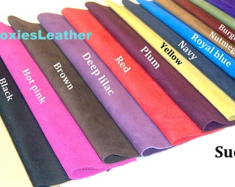 suede skins 6 x 12  - full suede skins , suede pieces , suede for jewellery , suede for earrings ,