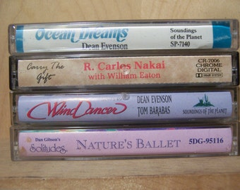 Vintage NEW AGE Cassette Tapes from 1970 - 1998