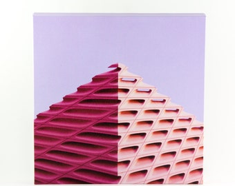 Minimal Photograph of the Broad Museum Los Angeles - Digital Print on Gallery Wrap Canvas
