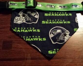 "Seahawk Collar and Free Bandana 1"" wide webbing"