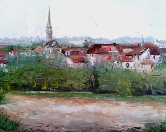 Eymet landscape on canvas