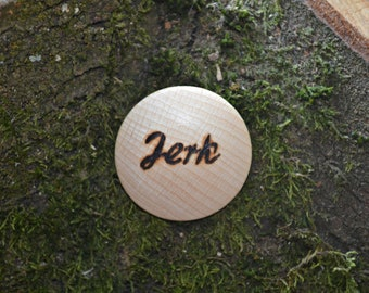 Button Jerk Supernatural sam Winchester Pyrography fire Painting