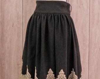 Elegant Gothic  Lolita Gold color Lace skirt, Gothic Lolita, Classic Lolita, Otome, Ready to ship