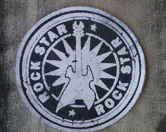 Rock Star Patch silkscreen print