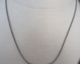 """20"""" Professionally Oxidized 925 Sterling Silver Korean Style Round Box Chain for Pendants, 1.9mm Thick"""
