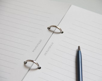 Line Paper, Lined Paper, Lined Paper Refill, Lined Refill Paper, Lined Refill A5, Refill A5, Refill Paper A5, Paper Refills, Paper A5, Lined