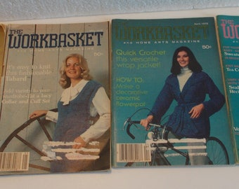 4-Issues The Workbasket and Home Arts Magazine....1978
