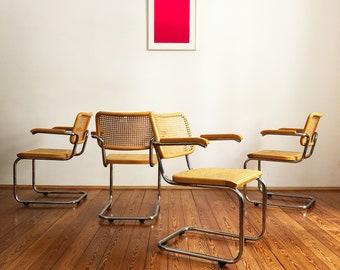 4 Marcel Breuer cantilever chair S64 from Thonet Beech wood