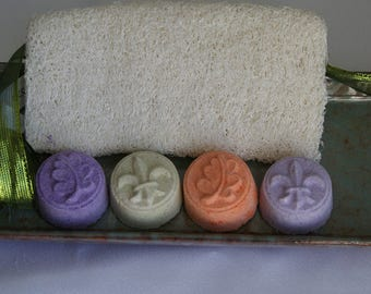 Aromatherapy Shower Bombs- Set of 4- you choose the scents.