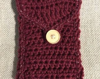 Burgundy Sparkle Phone Pouch