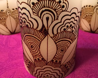 Hand painted Flameless candle