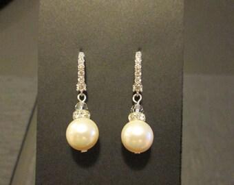 Cream Pearl Bridesmaid Earrings/ Bridal Jewelry/ Bridesmaid Jewelry/ Pink Pearl Earrings/ White Pearl Earrings/