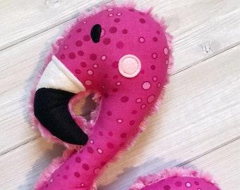 Handmade Flamingo Softie