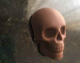 Halloween 3-D Skull, Large Chocolate Truffle
