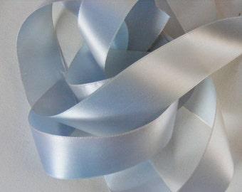 Vintage 1930's-40's French Rayon Taffeta Satin Ribbon 1 9/16 Inch Powder Blue