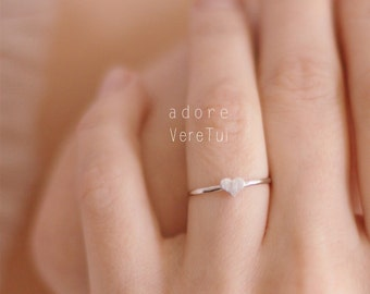 Petite Silver Heart Ring
