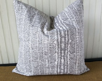 Grey Pillow Cover - Gray And White Pillow - Gray Pillow Cover - Grey Decorative Pillow- Grey Accent Pillow - Gray Throw Pillow