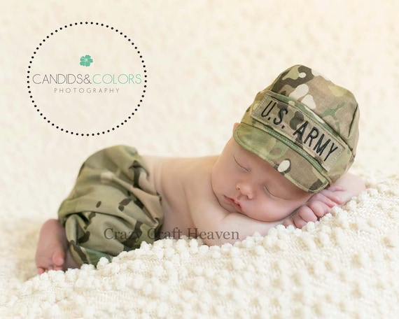 Baby Multicam Outfit Army Hat And Pants Set Multicam Hat And