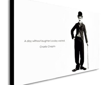 Charlie Chaplin Canvas Wall Art Print -Various Sizes