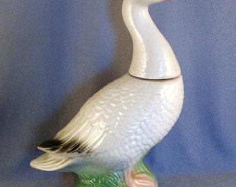 SALE Jim Beam 1963 Liquor Bottle // Liquor Decanter // Ceramic // White Goose // Collectibles // Vintage ***WAS 18.00